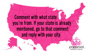 what state are you from | Paparazzi party game