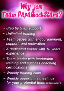Why join team Papa Rock Stars