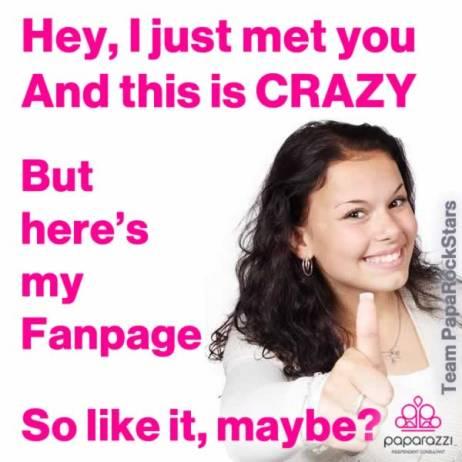 Like my Facebook Fanpage, maybe