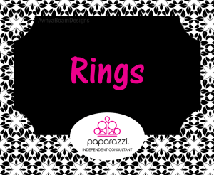 rings black and white Paparazzi jewelry album cover