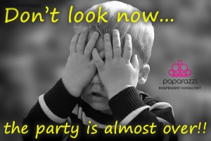 Don't Look Now - the Paparazzi Jewelry party is almost over