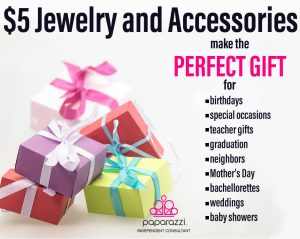 Jewelry and Accessories make great gifts