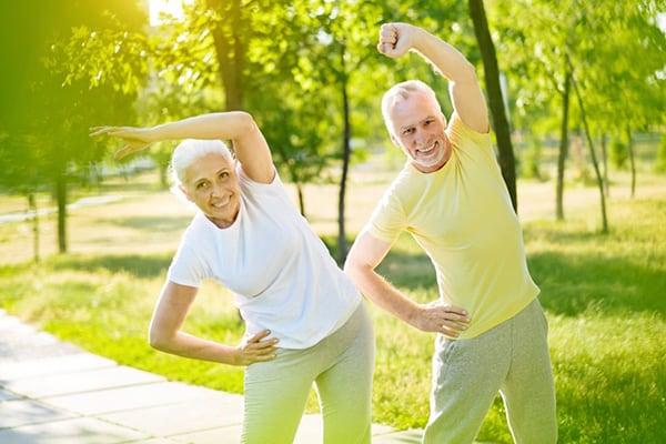 exercising regular and retaining muscle mass