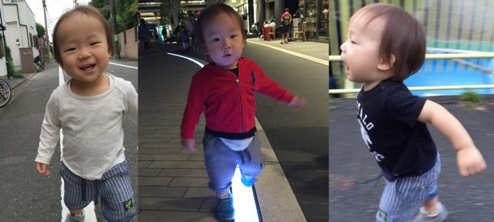 ヨチヨチ歩き、6ヶ月弱で終了。歩きはじめのポテッと転んじゃう可愛さは一瞬なので見逃さないで!