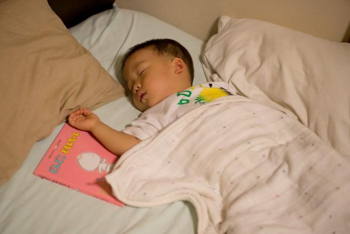 ようやく寝てくれた息子