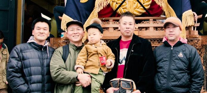 一年の計はだんじりにあり。岸和田・大道町新年小屋開き、鼓太郎2歳8ヶ月