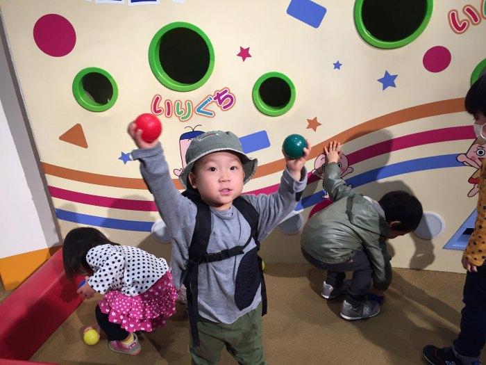 ボールで遊ぶ(NHKスタジオパーク)