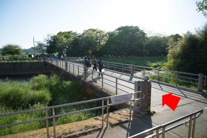 川の橋 - 二子玉川駅から多摩川駅への道順