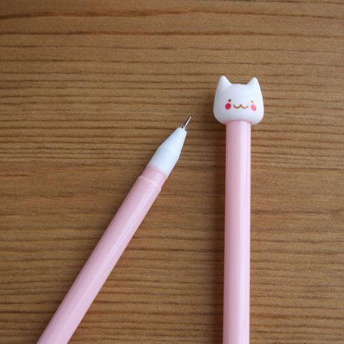 Bolígrafo gato blanco (rosa claro)