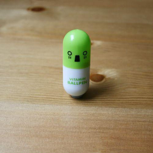 Bolígrafo vitaminado verde