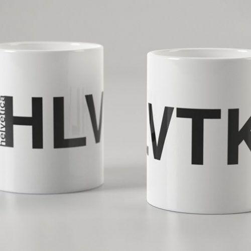 Taza tipográfica Helvetica