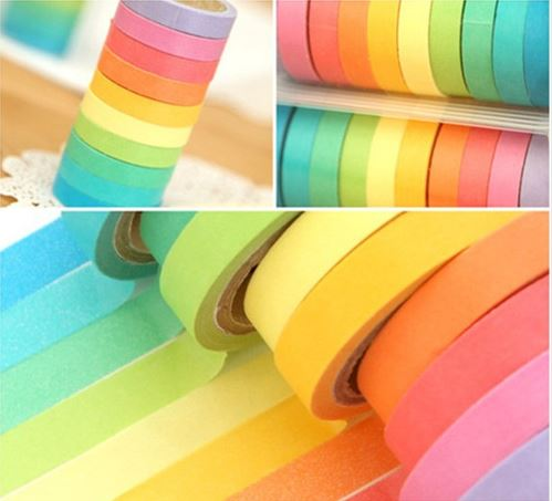 Washi tape pack multicolor