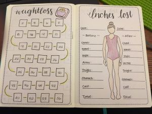 bullet journal registro de peso