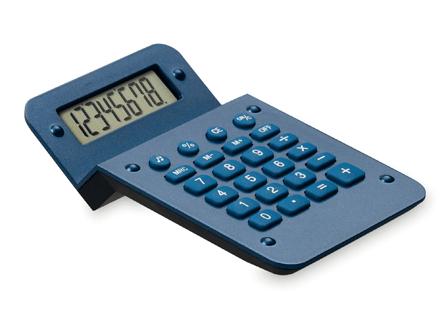 Calculadora zigzag azul