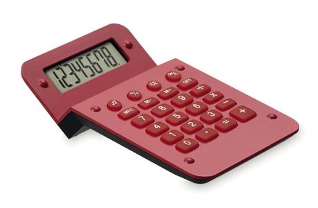 Calculadora zigzag roja
