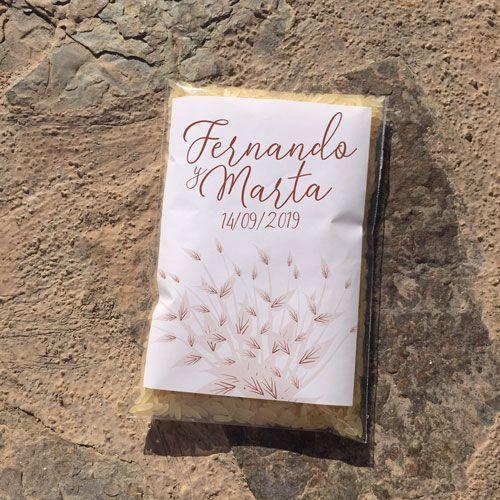 Bolsa para arroz floral 3