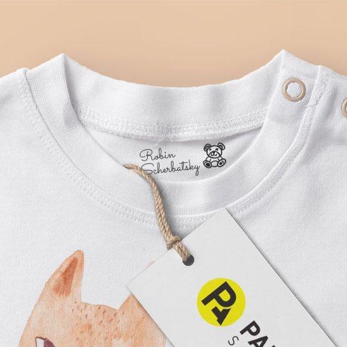 Sello textil robin-scherbatsky-detalle