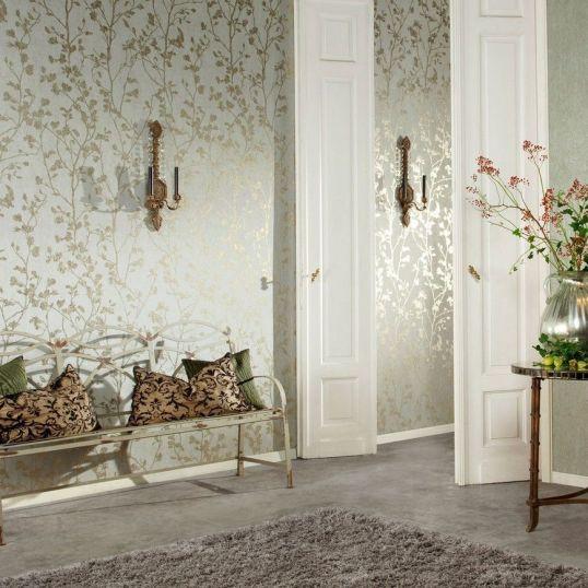 22829 Palazzo 1 - Revestimiento mural de ramas oro de la colección Palazzo Ref. PAL5037