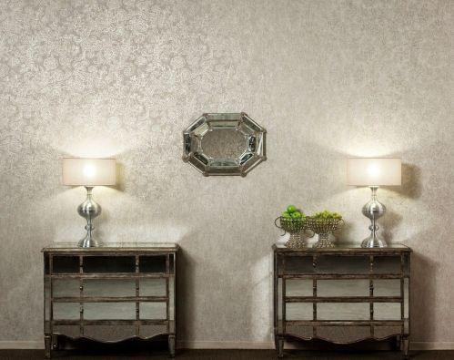 22833 Palazzo 5 - Revestimiento mural de flores plata de la colección Palazzo Ref. PAL3019