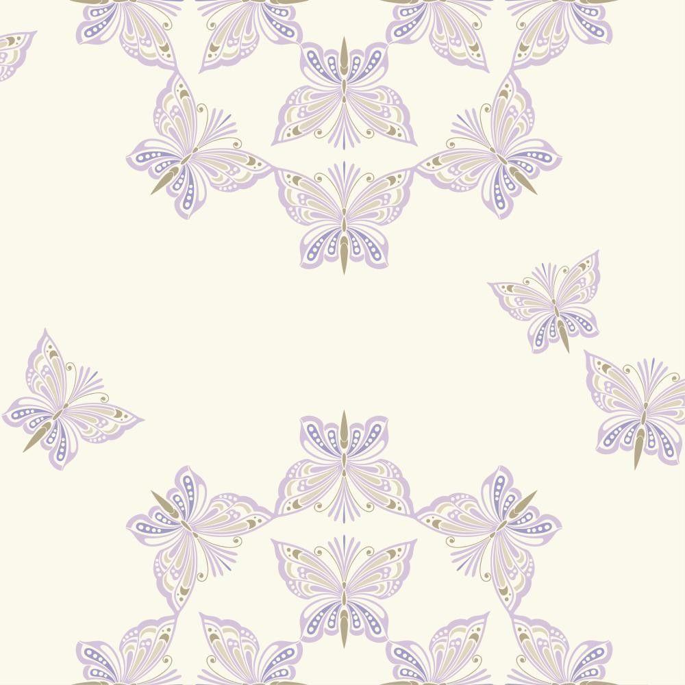 Papel pintado de mariposas purpurina del cat logo waverly for Papel pintado mariposas