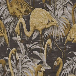 avalon   flamingo   31540   gold   grey - PAPEL PINTADO FLAMINGO DEL CATÁLOGO AVALON DE ARTE. DISPONIBLE EN 3 COLORES