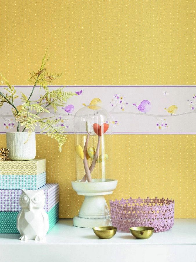 papel pintado lunares del catlogo my little world de casadeco disponible en 4 colores - Papel Pintado Lunares