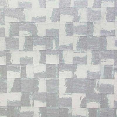 Papel pintado Omexco cuadrados blanco y plata ref. RAA202