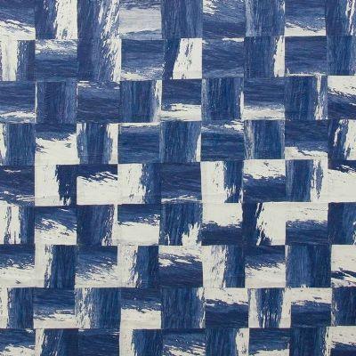 Papel pintado Omexco cuadrados blanco y azul ref. RAA203