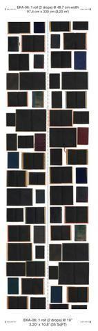 Papel pintado de libros antiguos negros EKA-06