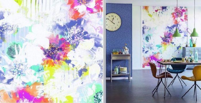 Mural de pared flores multicolor
