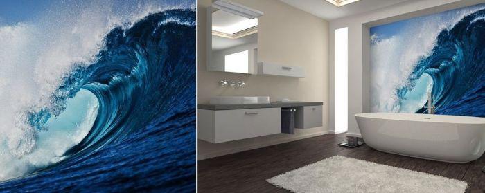 Mural de pared olas de surf