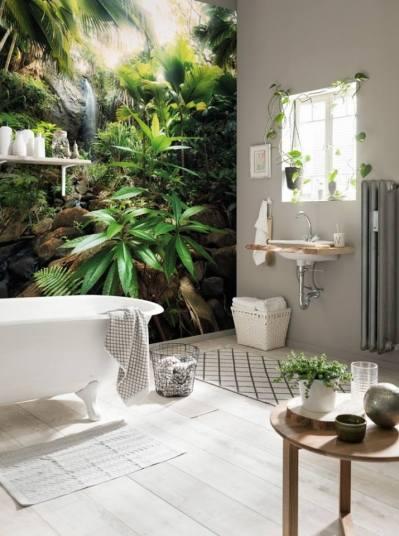 Murales para crear contraste en tu baño y destacar