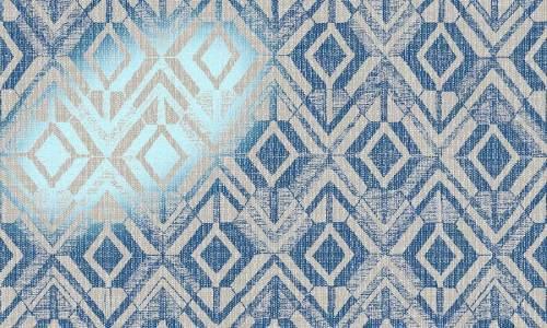 Papel pintado metalizado azul geométrico rf. 47520 de Arte