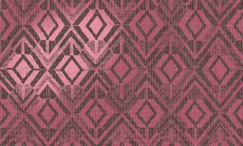 Papel pintado metalizado rosa geométrico 47524 de Revera