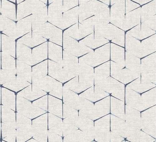Papel pintado para pared gris y azul del catálogo JV151