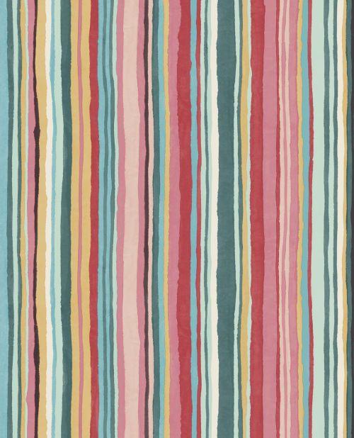 Papel para paredes de rayas de colores