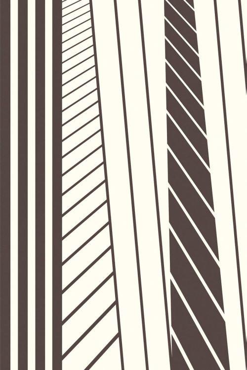 Mural abstracto de rayas blancas y negras