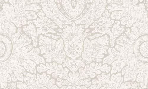 Papel para pared estilo clásico en color blanco roto