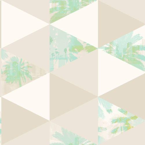 papel juvenil para paredes con palmeras