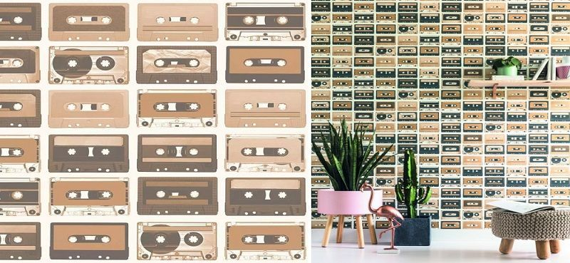 Papel pintado Cassettes - Catálogo Tonic de Caselio