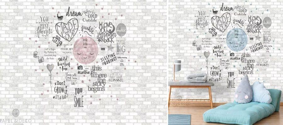 infantil - Papel pintado de piedra: el estilo rústico llega a tu casa