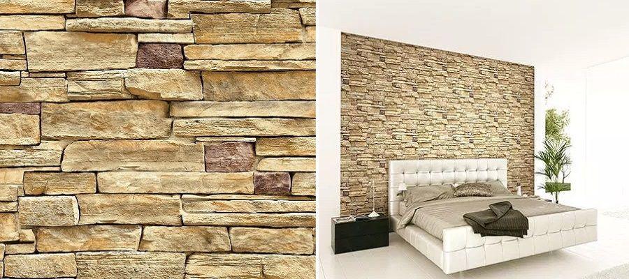 Papel pintado piedra rústica Wallquest - Catálogo 3D