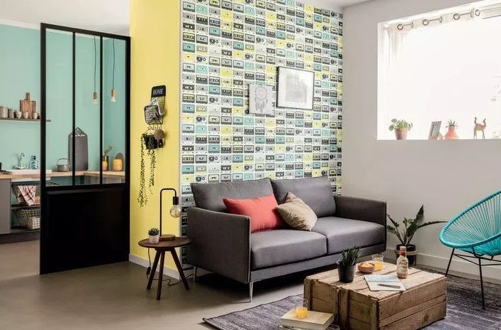 retro - Papel pintado juvenil para dormitorios de estilo retro: 10 ideas vintage