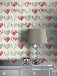 Papel pintado corazones 669702