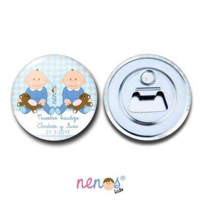 Imán Abrebotellas Personalizado Bebés Gemelos
