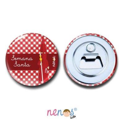 Imán Abrebotellas Personalizado Nazarena Roja 2