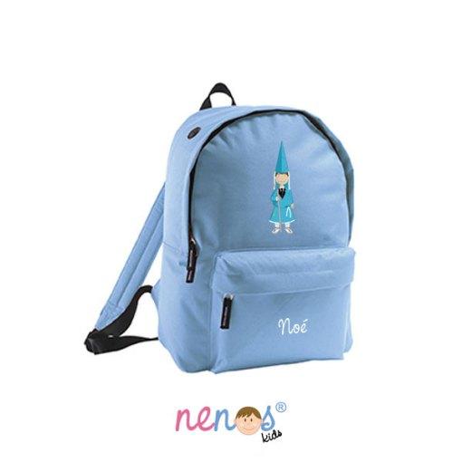 Mochila escolar personalizada Nazarena Azul