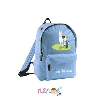 Mochila escolar personalizada Hípica Niño