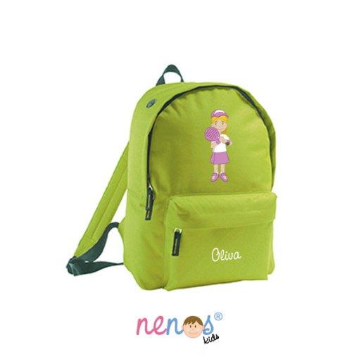 Mochila escolar personalizada Tenista Niña