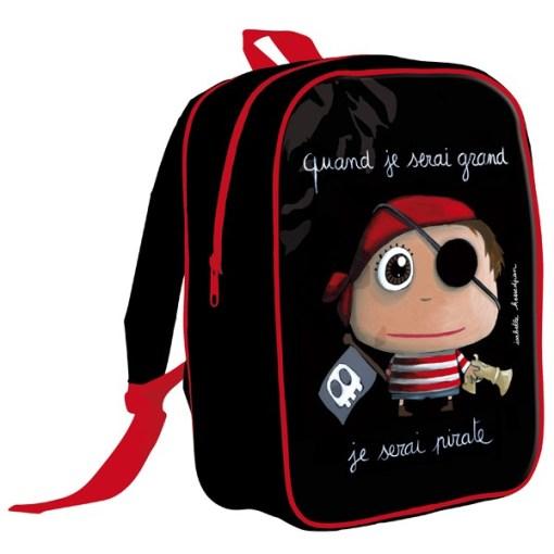 """Mochila escolar """"Cuando sea mayor seré pirata"""""""